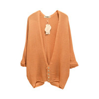 3/4 Sleeve Cardigan with Button Details