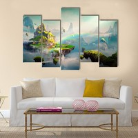 View Of Island Multi Panel Canvas Wall Art