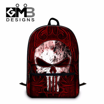 Skull School Backpacks Pattern for Middle School Students,Boys Cool Day Pack,Teenagers Mochila Bookbags with Laptop Compartment