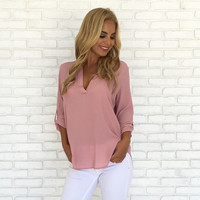 Dress to Impress Blouse in Blush