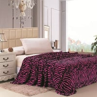 Zebra Print Microplush Blanket Various Colors and Sizes
