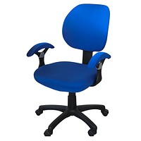 Freahap Chair Cover (NOT Chair!) Stretch Spandex Washable Removable for Office Home Desk Swivel Chair Protector Sapphire Blue