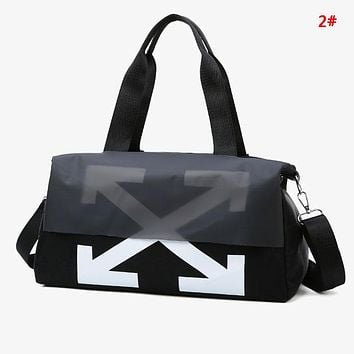 Off White New fashion cross arrow print couple shoulder bag handbag 2#