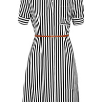 Altuzarra - Kieran striped silk crepe de chine shirt dress