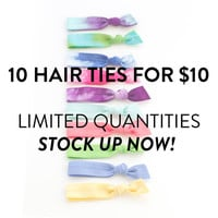 The Grab Bag Package - 10 Completely Random Elastic Hair Ties that Double as Bracelets by Mane Message on Etsy