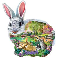 Bunny Shaped Easter Jigsaw Puzzle - Puzzle Haven