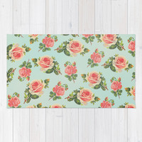 LONGING FOR SPRING- FLORAL PATTERN Area & Throw Rug by Allyson Johnson