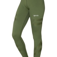 Green Tribe High Waist Tights