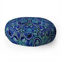 Aimee St Hill Paisley Blue Floor Pillow Round