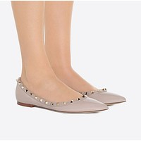 (Valentino) Steeple rivet flat shoes