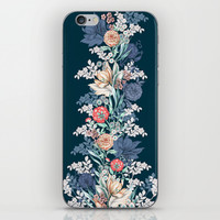 Pained Floral Placement iPhone & iPod Skin by Gemma Hodgson Design