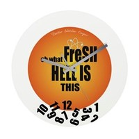 Sheldon Clock Wall Clock> Oh What Fresh Hell Is This> Sheldon To Mr Darcy Art by Alice Flynn