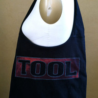 Tool Bag Upcycled Band Shirt Hobo Handbag by TheCollectiveChaos
