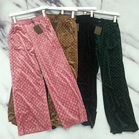 Louis Vuitton LV Fashion new print women pants trousers