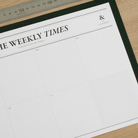 Weekly Schedule Notepad v4