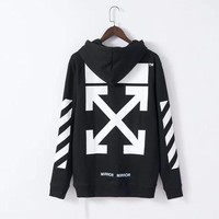 Off White Fashion Print Hoodie Top Sweater