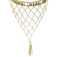 Webs of Chain in Gold Choker