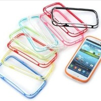 8 Piece 8 Color Soft TPU Bumper Frame Protection Case Cover for Samsung Galaxy S3 I9300