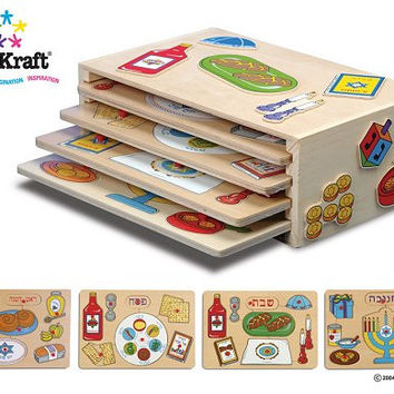 Kidkraft Holiday Puzzles and Rack