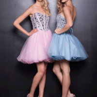 PRIMA Glitz GZ1426 Pastel Cocktail Dress - Homecoming