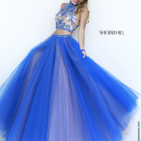 Sherri Hill 11211 Crop Top Ball Gown Sale Prom Dress
