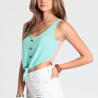 Mixed Signals Front Tie Top - $24.00: ThreadSence, Women's Indie & Bohemian Clothing, Dresses, & Accessories