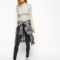 ASOS | ASOS High Waist Leggings In Charcoal at ASOS