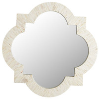 Mother-of-Pearl Quatrefoil Mirror - Ivory