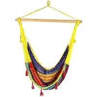 Hippie Rainbow Macrame Boho Chair Hammock