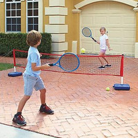 Kids Outdoor Driveway Tennis Toy Game Set Parking Lot Portable Backyard
