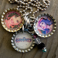 Katy Perry Themed Bottle Cap Necklace