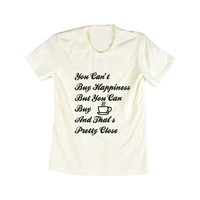 Amazon.com: Emeri Unisex Adult's You Can Buy Coffee Quotes Cotton Tshirt: Clothing