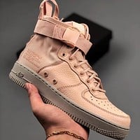 Trendsetter Nike SF Air Force 1 MID Women Men Fashion Casual  High-Top Shoes