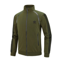 ADIDAS Clover autumn new men's fashion sports casual jacket jacket baseball uniform green