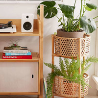 Rattan Two Tier Stand - Urban Outfitters