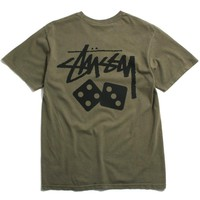 Dice Pigment Dyed T-Shirt Army