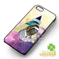 Funny Sloth Quote on Nebula -tri for iPhone 6S case, iPhone 5s case, iPhone 6 case, iPhone 4S, Samsung S6 Edge