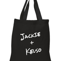 "That 70's Show ""Jackie + Kelso"" 100% Cotton Tote Bag"