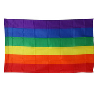 90x150cm Rainbow Flags and Banners Lesbian Gay Pride LGBT Flag Polyester Colorful Rainbow Flag For LGBT Pride Banner Decoration