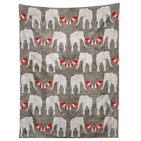 Holli Zollinger Elephant And Umbrella Tapestry
