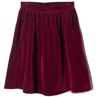 ROMWE | ROMWE Pleated Zippered Red Woolen Skirt, The Latest Street Fashion