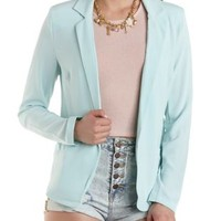 Structured Open Front Blazer by Charlotte Russe