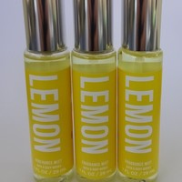 3 PACK Bath & Body Works LEMON Fragrance Mist Travel Size 1 oz