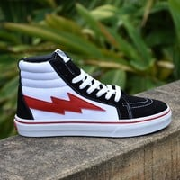Best Online Sale Revenge x Vans Storm Old Skool Skateboarding Shoes Mid Forest Sneakers FS102