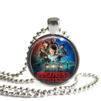 Stranger Things Silver Plated Picture Pendant Necklace