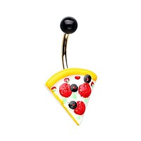 Pizza is Life Non Dangle WildKlass Belly Button Ring