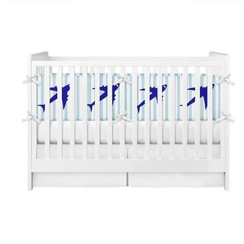 Jet Airplane Crib Bumper
