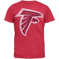 Atlanta Falcons - Distressed Logo Soft T-Shirt