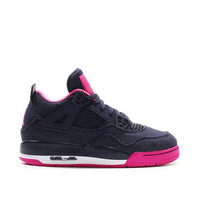 Nike Jordan Kids Air Jordan 4 Retro Gg Dark Obsidian/Vivid Pink Basketball Shoe