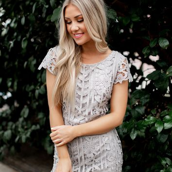 Passion For Fashion Lace Dress (Grey)